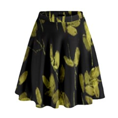 Dark Floral Print High Waist Skirt by dflcprintsclothing