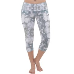 Light Circles, watercolor art painting Capri Yoga Leggings by picsaspassion