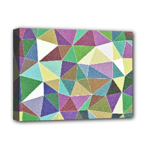 Colorful Triangles, Pencil Drawing Art Deluxe Canvas 16  X 12   by picsaspassion