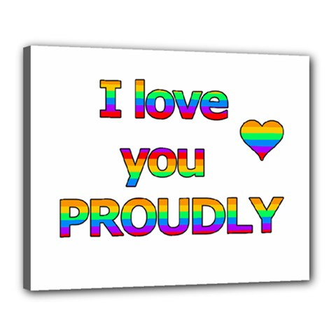 I Love You Proudly 2 Canvas 20  X 16  by Valentinaart