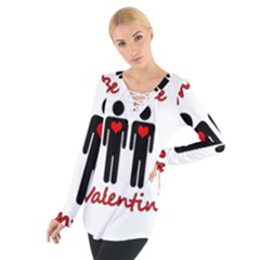 Be Mine Valentine Women s Tie Up Tee by Valentinaart