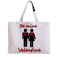 Be Mine Valentine Zipper Mini Tote Bag by Valentinaart