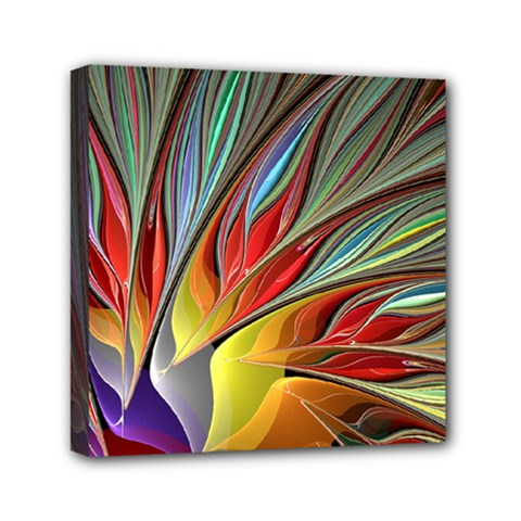 Fractal Bird Of Paradise Mini Canvas 6  X 6  (stretched) by WolfepawFractals