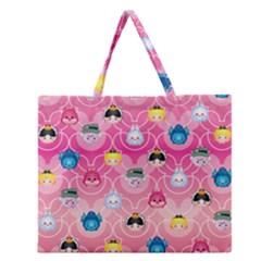 Alice In Wonderland Zipper Large Tote Bag by reddyedesign