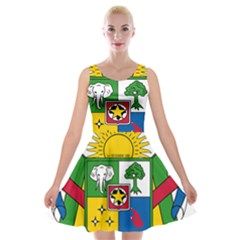 Coat Of Arms Of The Central African Republic Velvet Skater Dress by abbeyz71