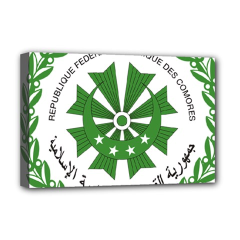 National Seal of the Comoros Deluxe Canvas 18  x 12   by abbeyz71