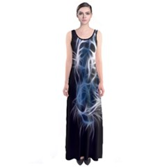 Ghost tiger Sleeveless Maxi Dress