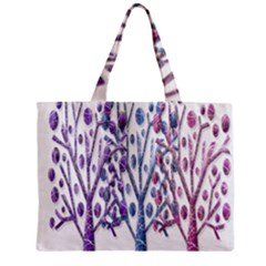 Magical Pastel Trees Zipper Mini Tote Bag by Valentinaart