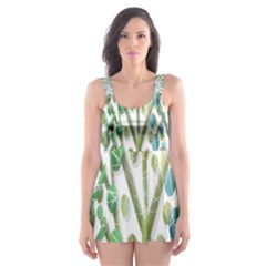 Magical Green Trees Skater Dress Swimsuit by Valentinaart