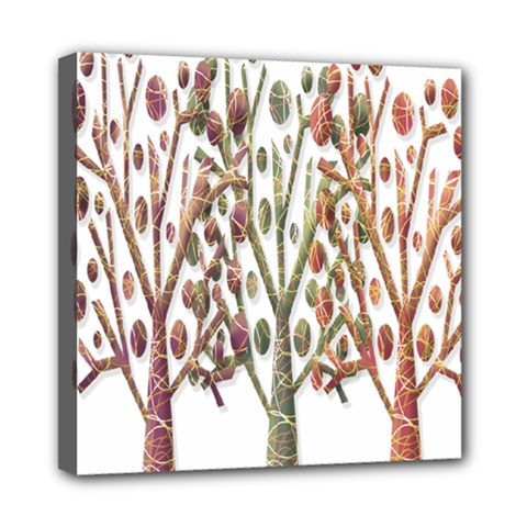 Magical Autumn Trees Mini Canvas 8  X 8  by Valentinaart