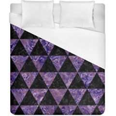 Triangle3 Black Marble & Purple Marble Duvet Cover (california King Size)