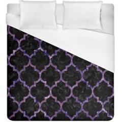 TIL1 BK-PR MARBLE Duvet Cover (King Size) by trendistuff