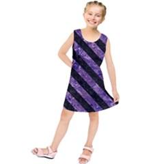 STR3 BK-PR MARBLE (R) Kids  Tunic Dress by trendistuff