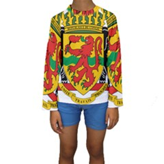 Coat of Arms of The Republic of The Congo Kids  Long Sleeve Swimwear by abbeyz71