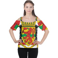 Coat of Arms of The Republic of The Congo Women s Cutout Shoulder Tee by abbeyz71