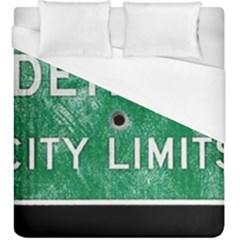 Detroit City Limits Duvet Cover (King Size) by DetroitCityLimits