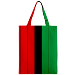 Kwanzaa Colors African American Red Black Green  Zipper Classic Tote Bag by yoursparklingshop