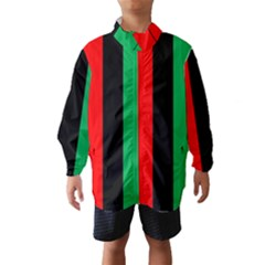 Kwanzaa Colors African American Red Black Green  Wind Breaker (kids) by yoursparklingshop