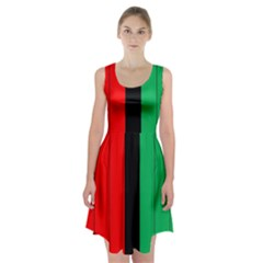 Kwanzaa Colors African American Red Black Green  Racerback Midi Dress by yoursparklingshop