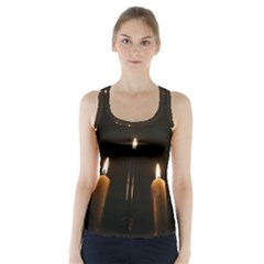 Hanukkah Chanukah Menorah Candles Candlelight Jewish Festival Of Lights Racer Back Sports Top by yoursparklingshop