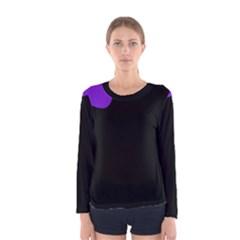 Purple and black Women s Long Sleeve Tee by Valentinaart
