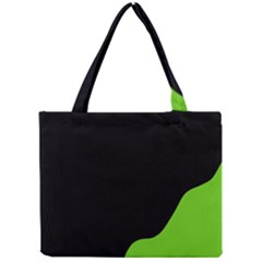 Black And Green Mini Tote Bag by Valentinaart