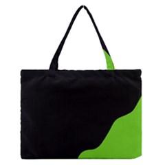 Black And Green Medium Zipper Tote Bag by Valentinaart