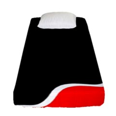 Simple Red And Black Desgin Fitted Sheet (single Size) by Valentinaart