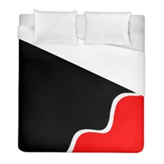 Simple Red And Black Desgin Duvet Cover (full/ Double Size) by Valentinaart