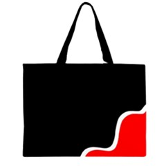 Simple Red And Black Desgin Zipper Large Tote Bag by Valentinaart