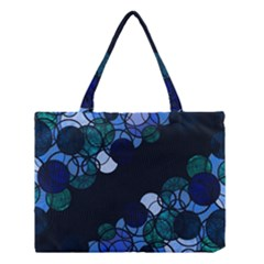 Blue Bubbles Medium Tote Bag by Valentinaart