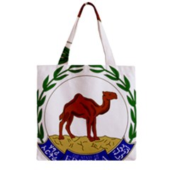 National Emblem Of Eritrea  Zipper Grocery Tote Bag by abbeyz71