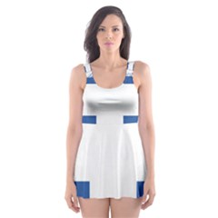Coat Of Arms Of Greece Skater Dress Swimsuit by abbeyz71