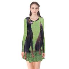 2 Dobies Flare Dress by TailWags