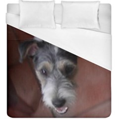 Parson Russell Terri?r Looking Up Duvet Cover (King Size) by TailWags
