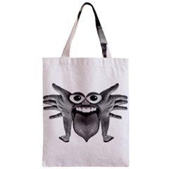 Body Part Monster Illustration Zipper Classic Tote Bag by dflcprints