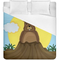 Groundhog Duvet Cover (king Size) by Valentinaart