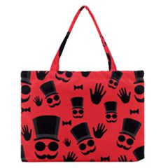 Gentlemen - red Medium Zipper Tote Bag by Valentinaart