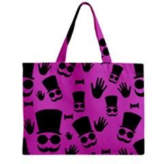 Gentleman   Magenta Pattern Zipper Mini Tote Bag by Valentinaart