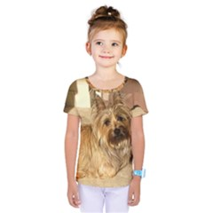 Cairn Terrier Laying Kids  One Piece Tee by TailWags