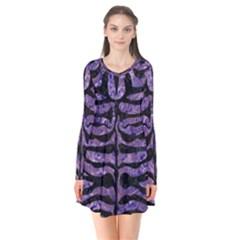 SKN2 BK-PR MARBLE (R) Flare Dress by trendistuff