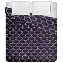 Scales3 Black Marble & Purple Marble Duvet Cover Double Side (california King Size) by trendistuff