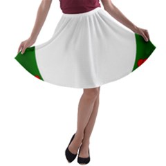 Holiday Wreath A Line Skater Skirt by Amaryn4rt
