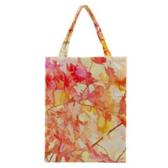 Monotype Art Pattern Leaves Colored Autumn Classic Tote Bag by Amaryn4rt