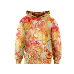 Monotype Art Pattern Leaves Colored Autumn Kids  Pullover Hoodie by Amaryn4rt