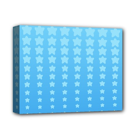 Blue Stars Background Deluxe Canvas 14  X 11  by AnjaniArt