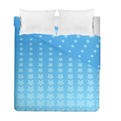 Blue Stars Background Line Duvet Cover Double Side (full/ Double Size) by AnjaniArt