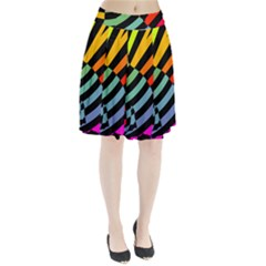 Casino Cat On The Verge Of Scratch Attack Pleated Skirt by AnjaniArt