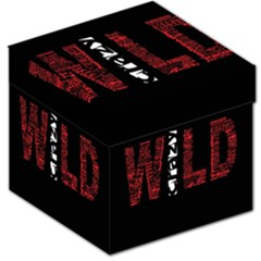 Crazy Wild Style Background Font Words Storage Stool 12   by AnjaniArt