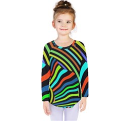 Colorful Cat Kids  Long Sleeve Tee